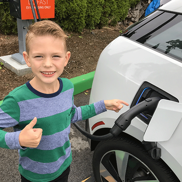 EV charging station rebate from holy cross energy