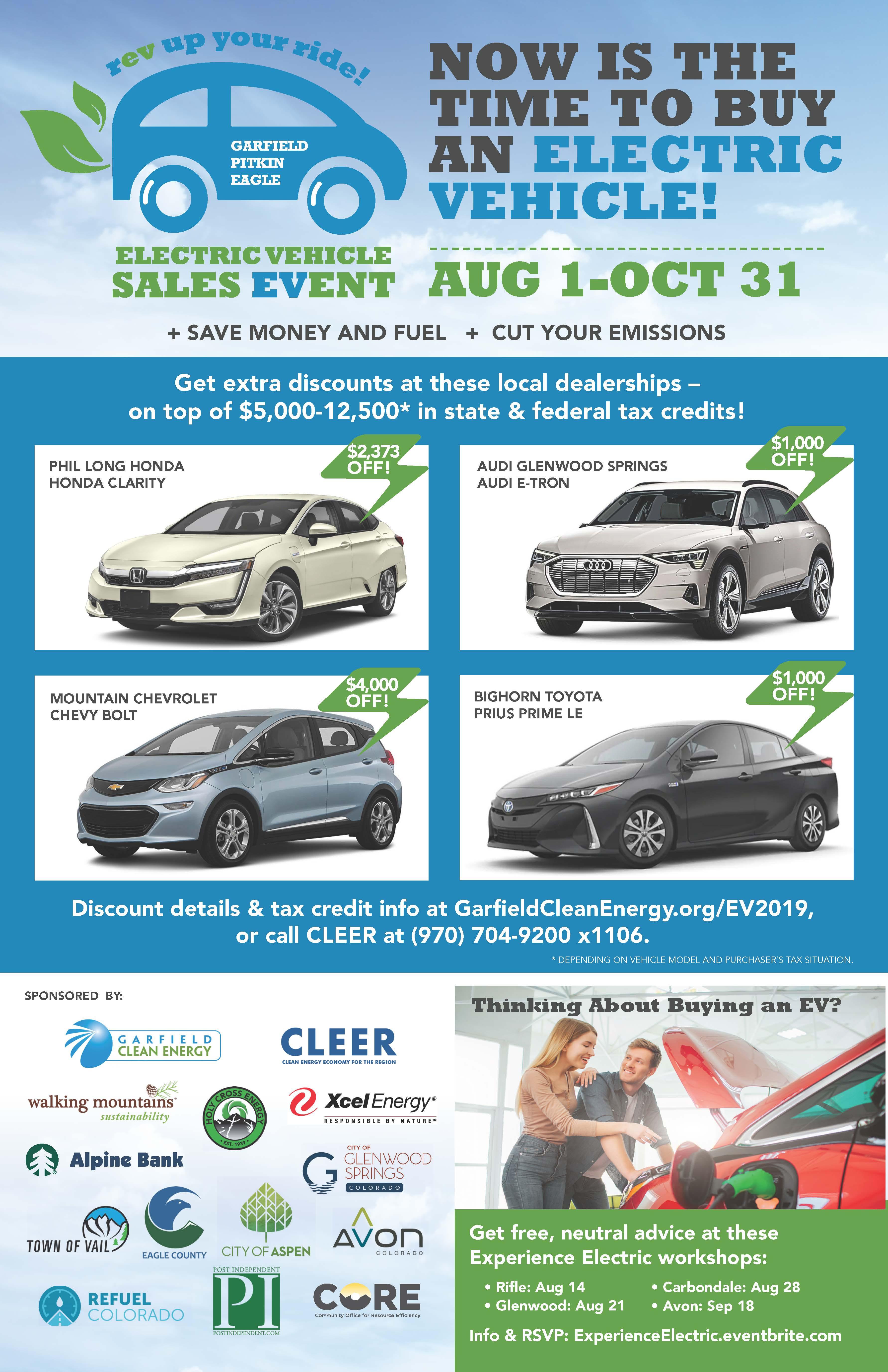 2019 EV sales event