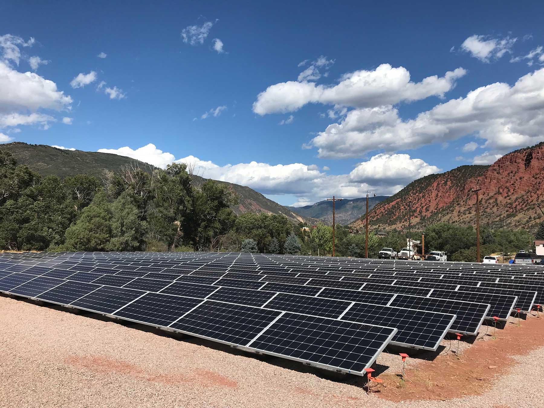 holy cross energy solar on campus glenwood springs partner powerfield