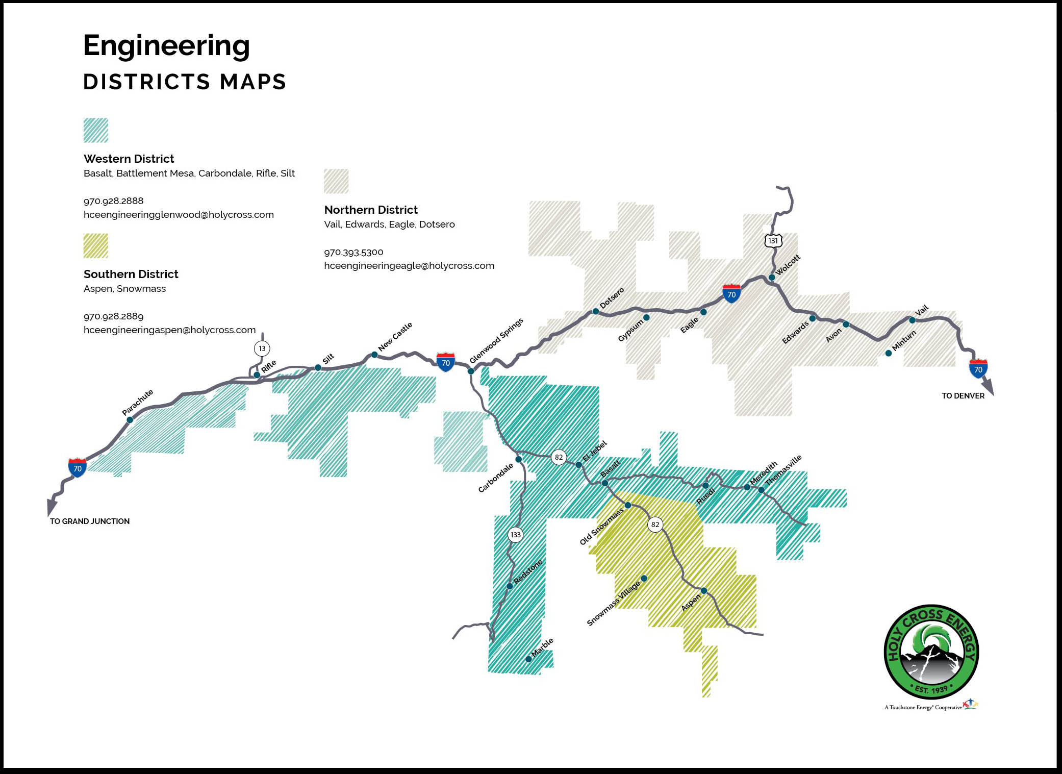 engineering district map